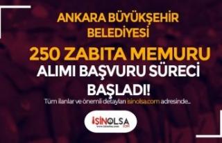 Ankara Büyükşehir Belediyesi 250 Zabıta Alımı...