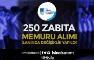 Ankara Büyükşehir Belediyesi ABB 250 Memur Alımı...