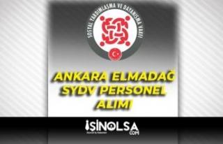 Ankara Elmadağ SYDV 7 Temizlik İşçisi Alımı...