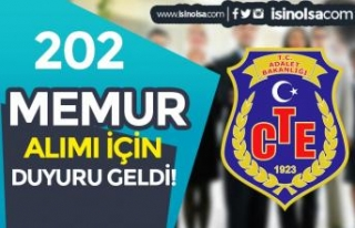 CTE 202 Memur Alımı Sözlü Sınav Yerleri ve Tarihleri...