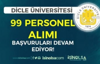 Dicle Üniversitesi 60 KPSS İle 99 Personel Alımı...
