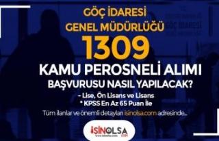 Göç İdaresi 1309 Kamu Personeli Alımı Başvurusu...