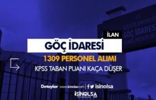 Göç İdaresi 1309 Personel Alımı Taban KPSS Puanı...
