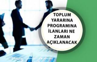 İŞKUR Kamuya Toplum Yararına Programı TYP İlanları...