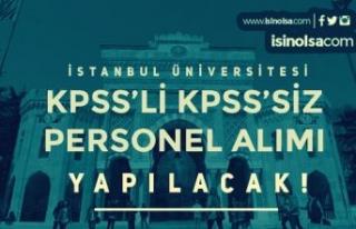 İstanbul Üniversitesi KPSS'li KPSS siz Sözleşmeli...