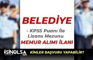 Karasu Belediyesi 70 KPSS İle Lisans Mezunu Memur...