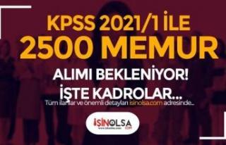 KPSS 2021/1 Merkezi Atama 2500 Memur Alımı Bekleniyor!...
