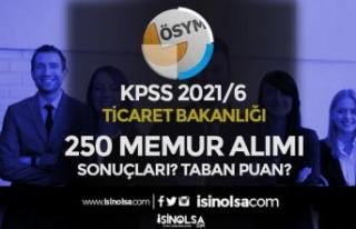 KPSS 2021/6 Ticaret Bakanlığı 250 Memur Alımı...