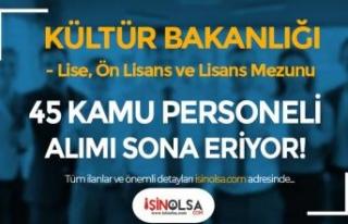 Kültür Bakanlığı 45 Kamu Personeli Alımı Sona...