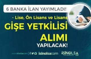 Lise, Ön Lisans ve Lisans - 6 Banka Gişe Yetkilisi...