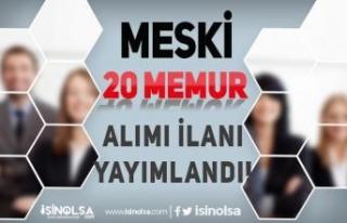 Mersin Su ve Kanalizasyon İdaresi ( MESKİ ) 20 Memur...