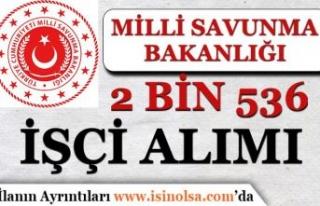 MSB Askeri Fabrikalara Kadrolu 2 Bin 536 İşçi Alımı...