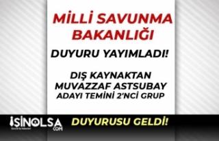 MSB PERTEM'de TSK Muvazzaf Astsubay Alımı 2...