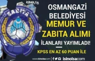 Osmangazi Belediyesi 60 KPSS-Ön Lisans ve Lise Memur...