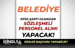 Savur Belediyesi KPSS siz Sözleşmeli Personel Alımı...