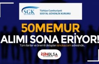 Sosyal Güvenlik Kurumu ( SGK ) 50 Memur Alımı Başvuru...