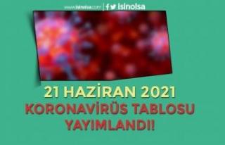 Yeni Kararlar Sonrası 21 Haziran Koronavirüs Tablosu...