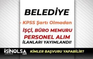 Zonguldak Ereğli Belediyesi 76 İşçi ve Memur Alımı...