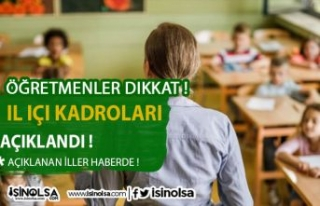 Öğretmenler Dikkat ! 2021 İl İçi Öğretmen İhtiyaç...