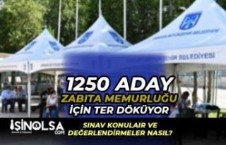 ABB 250 Zabıta Memuru Sözlü ve Uygulamalı Sınavlar...