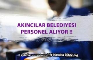 Akıncılar Belediyesi Farklı Kadrolarda Personel...