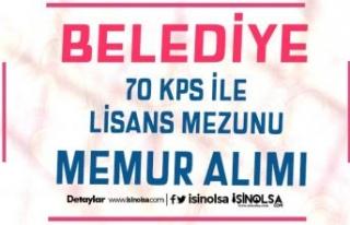 Altunhisar Belediyesi 70 KPSS İle Lisans Mezunu Memur...