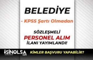 Bandırma Belediyesi KPSS Şartı Olmadan Mühendis...