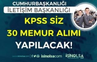 Cumhurbaşkanlığı İletişim Başkanlığı KPSS...