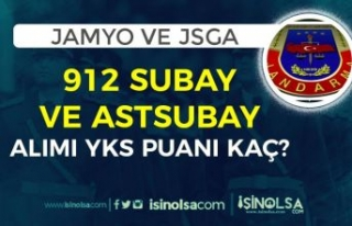 Jandarma 2021 Yılı JSGA ve JAMYO 912 Subay ve Astsubay...
