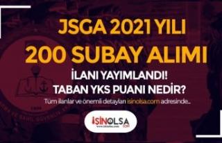 JSGA 200 Öğrenci ( Subay ) Alımı İçin İlan...