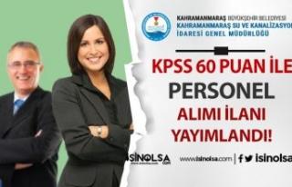 Kahramanmaraş Su ve Kanalizasyon İdaresi KPSS 60...