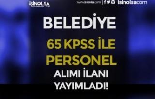 Karapınar Belediyesi 65 KPSS Puanı İle Tekniker...