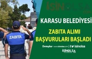 Karasu Belediye'sine 6 Zabıta Memuru Alımı Yapılıyor...