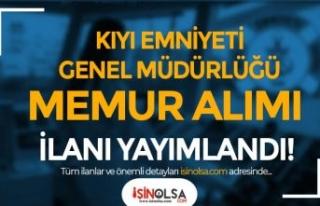 Kıyı Emniyeti 60 KPSS Puanı İle Memur Alımı...