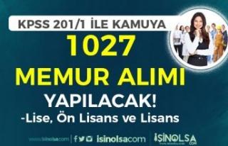 KPSS 2021/1 Tercih Kılavuzu İle Kamuya 1027 Memur...