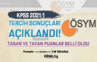 KPSS 2021/1 Tercih Sonuçları Taban ve Tavan Atama...