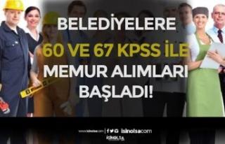 KPSS 60 ve 67 Puan İle Belediyelere Memur Alımları...