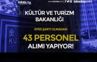 Kültür Bakanlığı KPSS siz 43 Personel Alımı...
