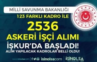 MSB 123 Kadro İle 2536 Askeri İşçi Alımı İŞKUR'da...