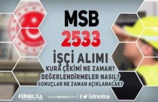 MSB Askeri Fabrikalara 2533 İşçi Alımı Kura Çekimi,...