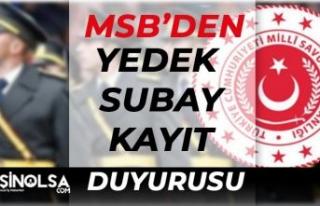 MSB'den Duyuru! KKK Yedek Subay Kayıt Duyurusu...