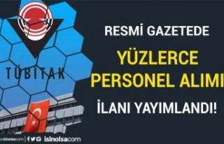 TÜBİTAK Resmi Gazetede Yüzlerce KPSS siz Personel...