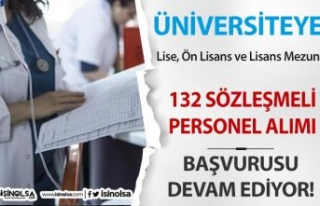 Üniversiteye 132 Lise, Ön Lisans Lisans Mezunu Sözleşmeli...