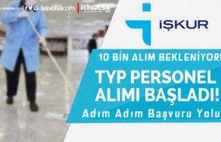 10 Bin Personel Alımı Bekleniyor! İŞKUR TYP Başvuruları...