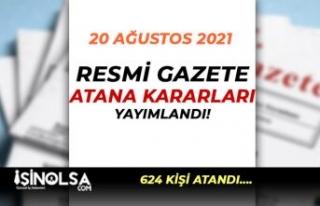 20 Ağustos 2021 Atama Kararları: 624 Amirin Görev...