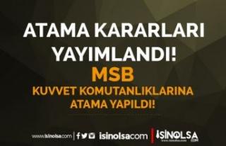 25 Ağustos Atama Kararları: MSB KKK, HVV ve DKK...
