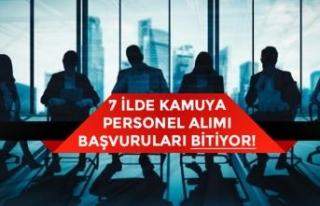7 İlde Kamuya Toplum Yararına Programı ile Personel...