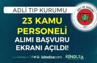 Adli Tıp Kurumu ( ATK ) 23 Kamu Personeli Alımı...