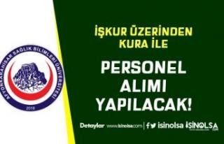 Afyonkarahisar SBÜ İŞKUR Üzerinden Kura İle Personel...