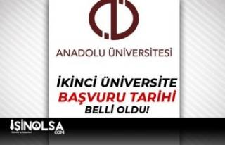 Anadolu Üniversitesi: 2021-2022 İkinci Üniversite...